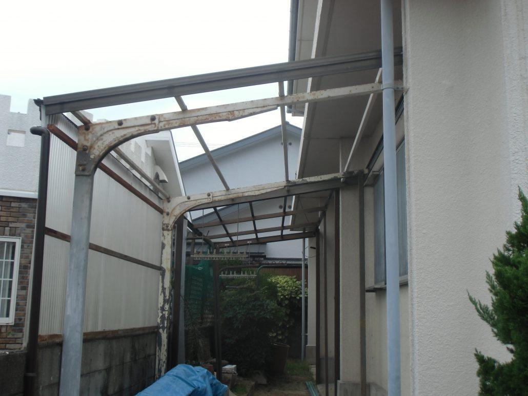 外壁 塗装 テラス 屋根