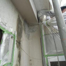 外壁塗装下地調整、吹付け