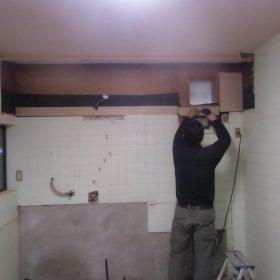 キッチン下地工事