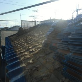 葛城市 屋根葺き替え工事
